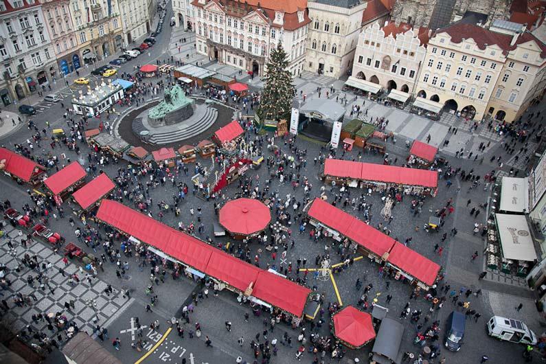 Чехия, старинная площадь Праги